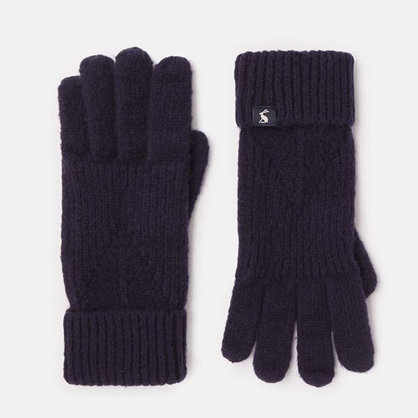 Joules French Navy Thurley Knitted Gloves