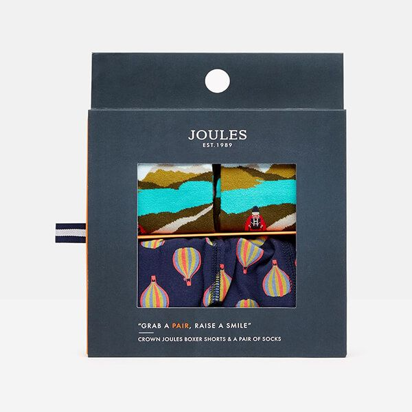 Joules Put a Sock in It Sock And Boxer Shorts Gift Set