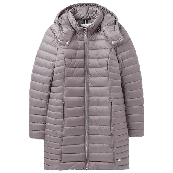 Joules Slate Canterbury Long Luxe Padded Jacket