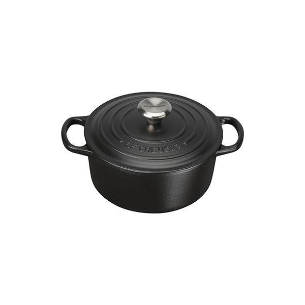 Le Creuset Signature Satin Black Cast Iron 18cm Round Casserole
