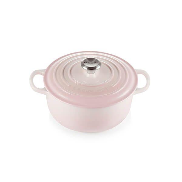 Le Creuset Signature Shell Pink 20cm Round Casserole