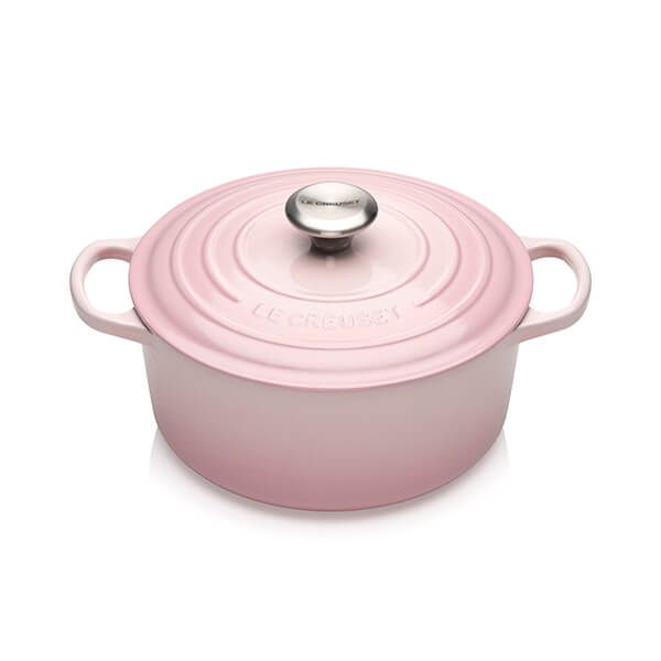 Le Creuset Signature Shell Pink 24cm Round Casserole