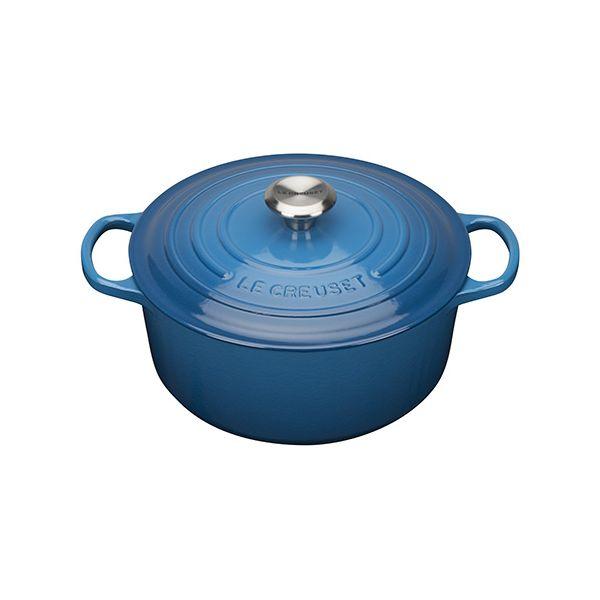 Le Creuset Signature Marseille Blue Cast Iron 26cm Round Casserole