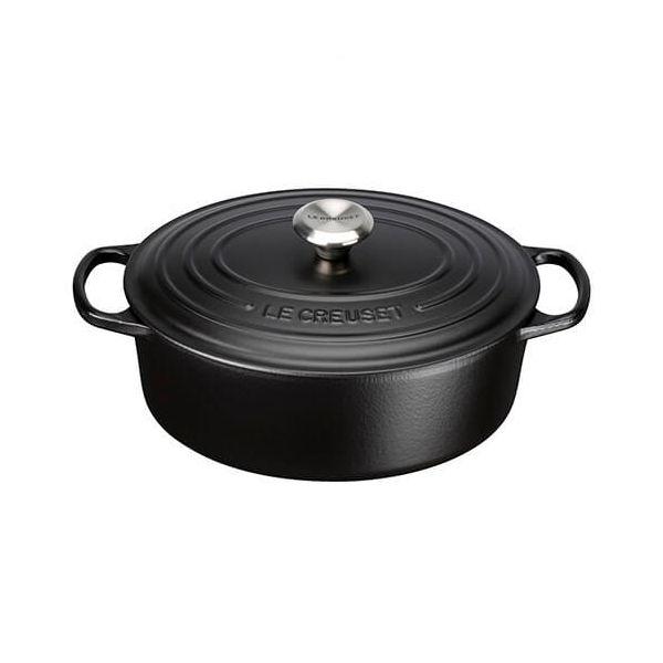 Le Creuset Signature Satin Black Cast Iron 29cm Oval Casserole