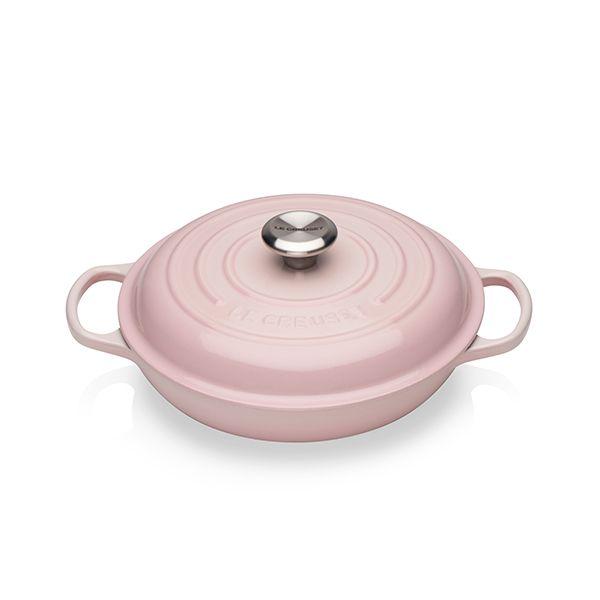 Le Creuset Signature Shell Pink 26cm Shallow Casserole