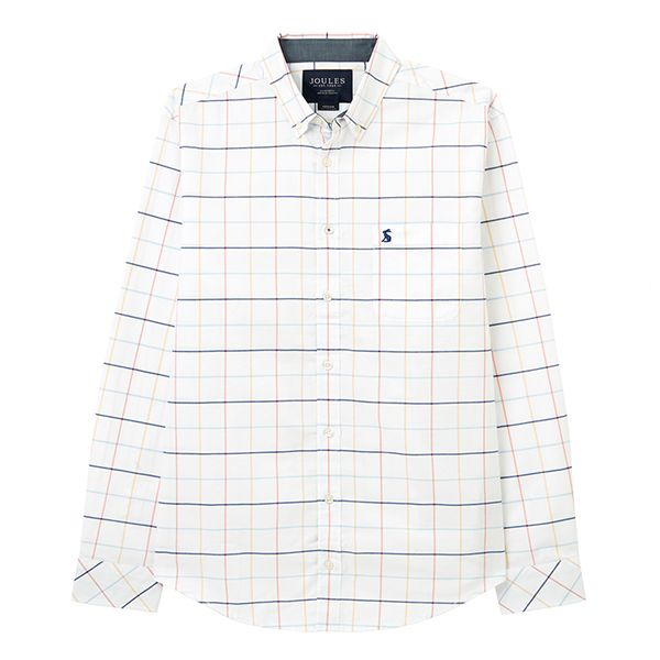 Joules Multi Blue Check Welford Classic Fit Long Sleeve Shirt