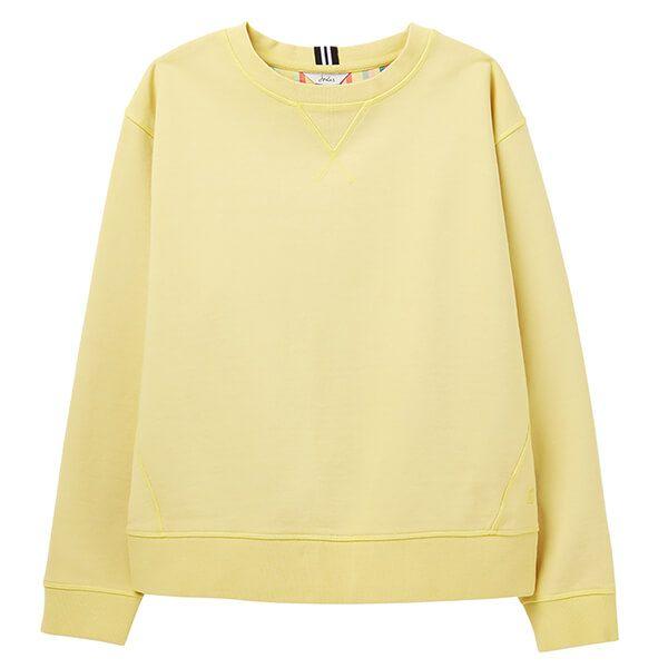 Joules Pale Lemon Monique Crew Neck Sweatshirt