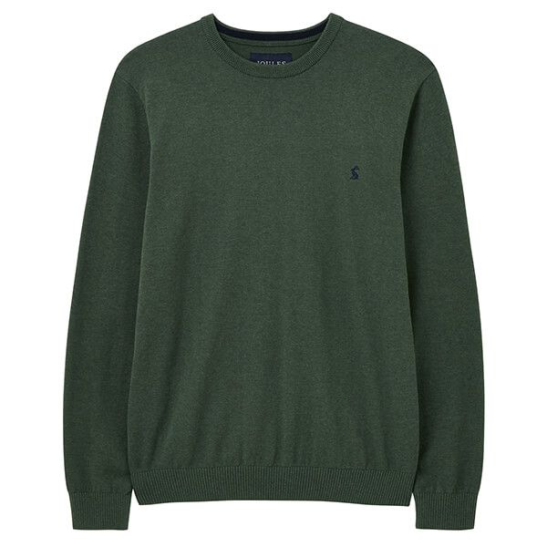 Joules Green Marl Jarvis Crew Neck Jumper