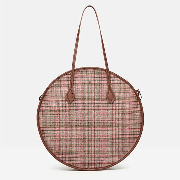 Joules Pink Tweed Fulbrook Round Bag