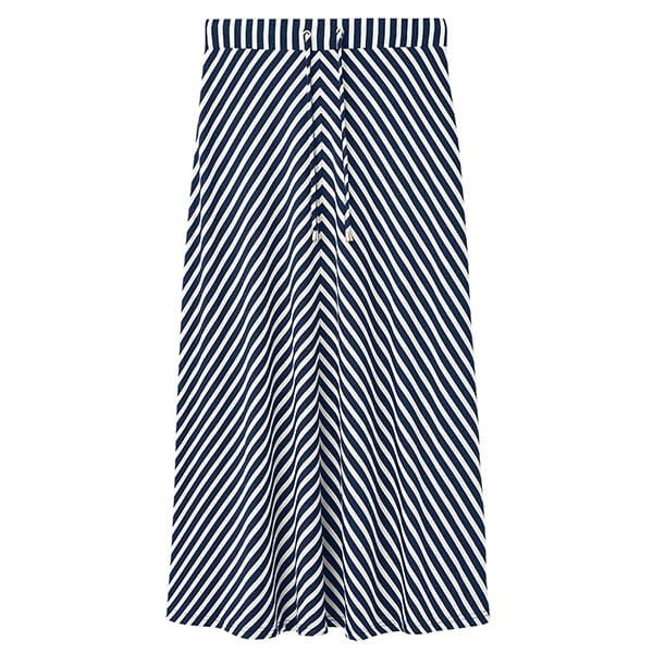 Joules Navy White Stripe Auriel Chevron Skirt