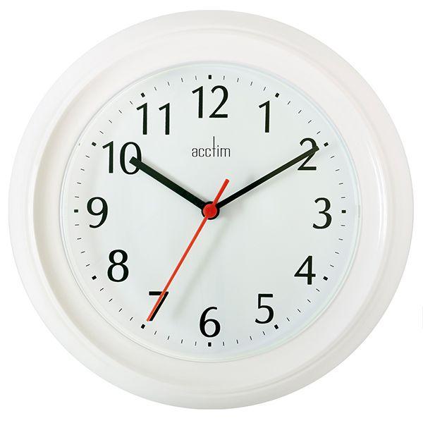 Acctim Wycombe Wall Clock White