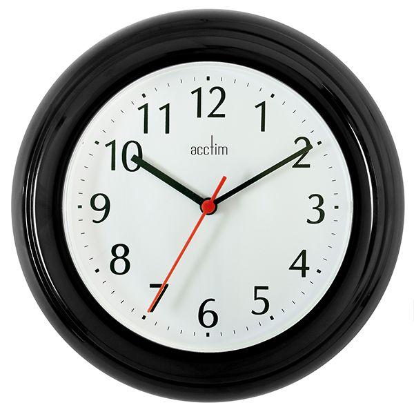 Acctim Wycombe Wall Clock Black