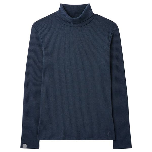 Joules French Navy Clarissa Solid Roll Neck Jersey Top