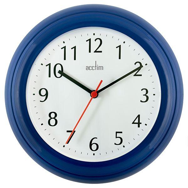 Acctim Wycombe Wall Clock Blue