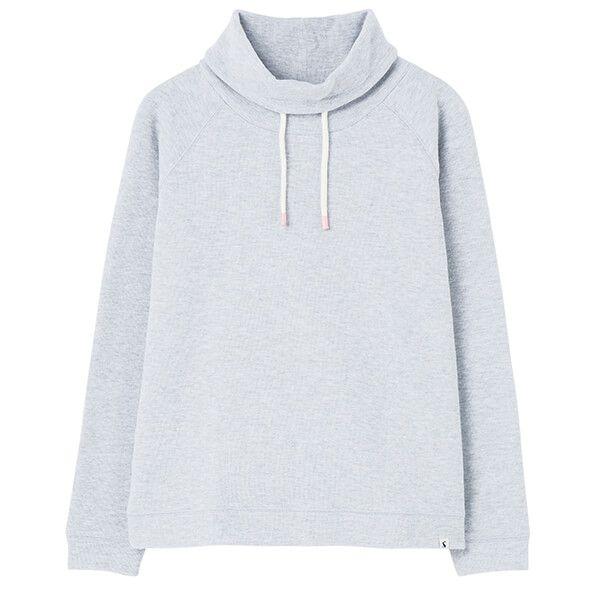 Joules Grey Marl Nadia Ribbed Sweatshirt