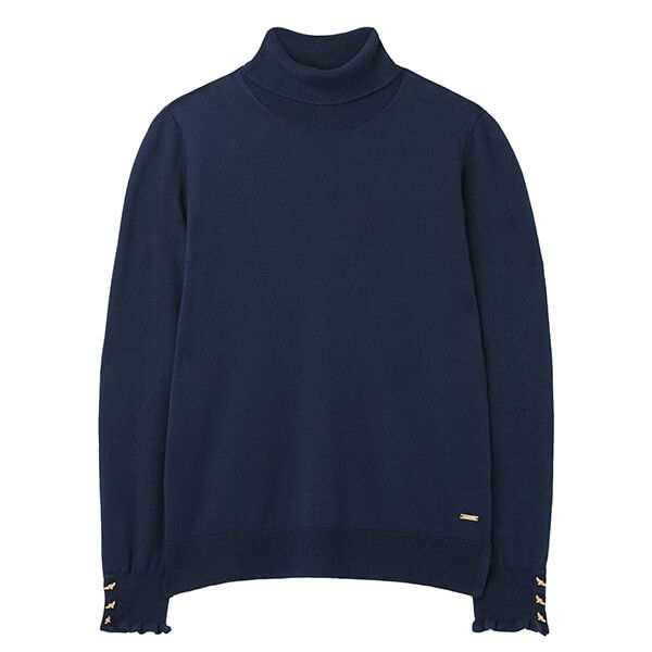 Joules French Navy Orianna Roll Neck Jumper