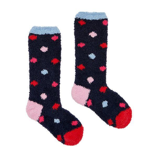 Joules Multi Spot Fluffy Socks