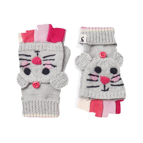 Joules Grey Mouse Chummy Character Converter Gloves
