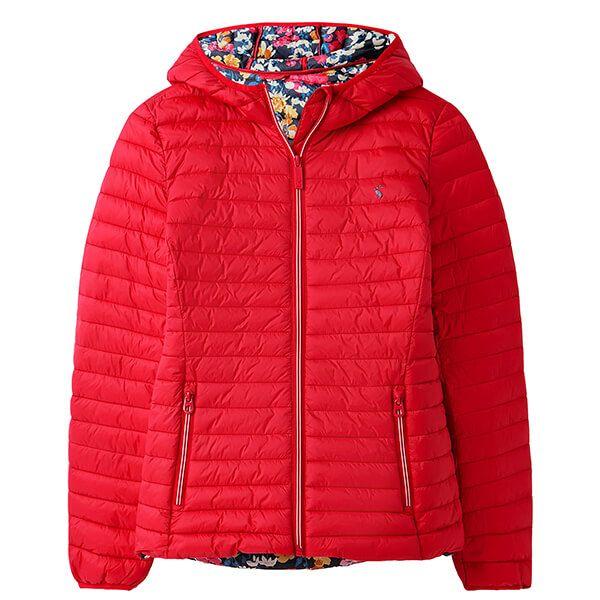 Joules Red Snug Water Resistant Packable Coat