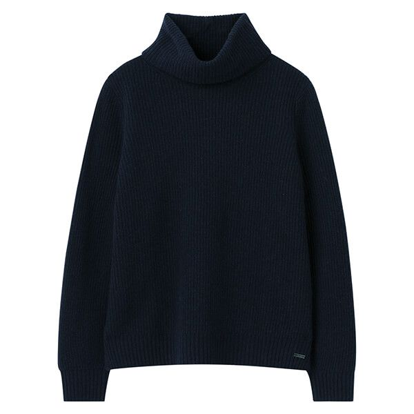 Joules French Navy Halton Knitted Turtle Neck Jumper