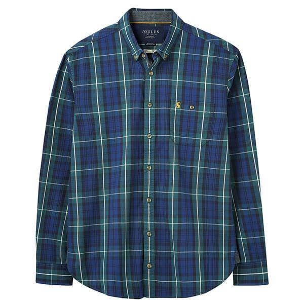 Joules Green Multi Stripe Hewitt Long Sleeve Classic Fit Shirt