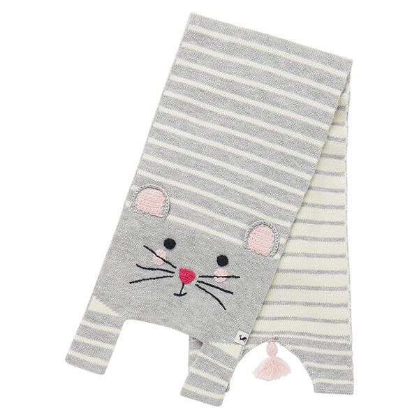 Joules Grey Mouse Chummy Character Scarf