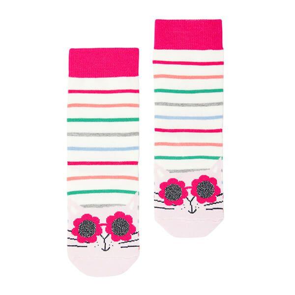 Joules Cat Stripe Neat Feet Character Socks