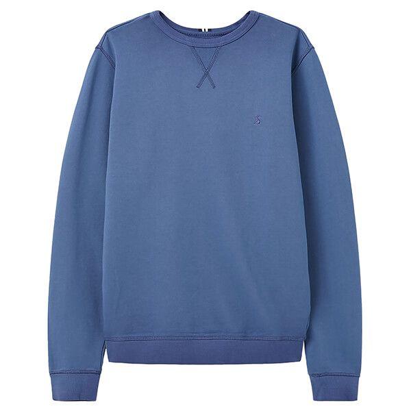 Joules Skipper Blue Monty Garment Dyed Crew Neck Sweatshirt