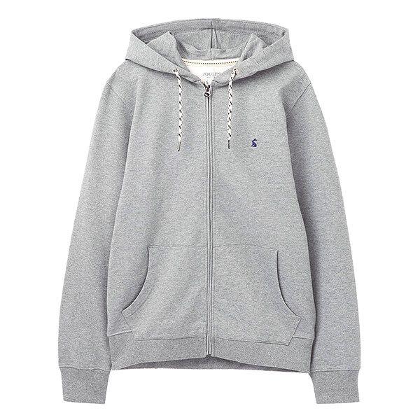 Joules Grey Marl Mayday Garment Dyed Hoody