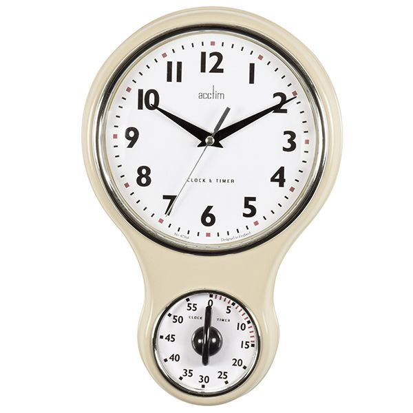 Acctim Kitchen Time Wall Clock Cream