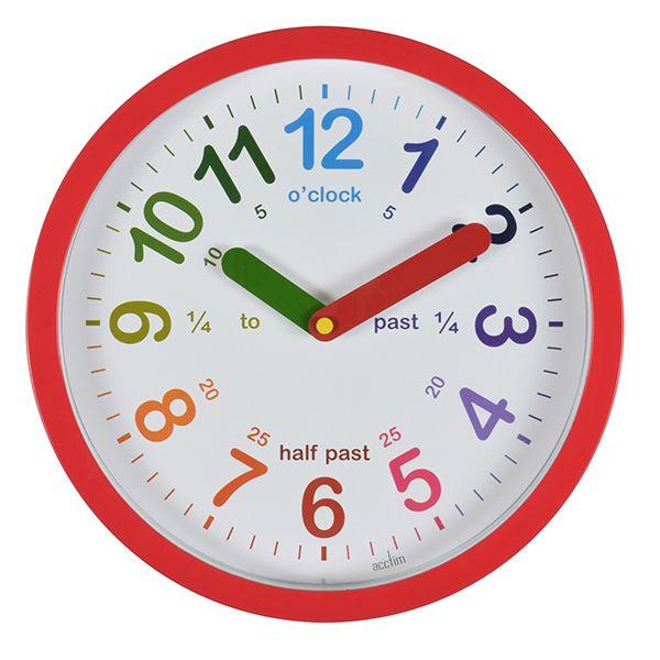 Acctim LuLu Wall Clock Red