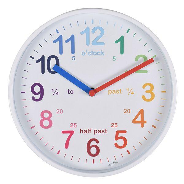 Acctim Wickford Kids Wall Clock White
