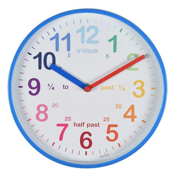 Acctim Wickford Kids Wall Clock Blue