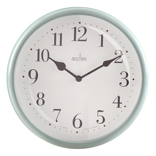 Acctim Aldbury Wall Clock Peppermint