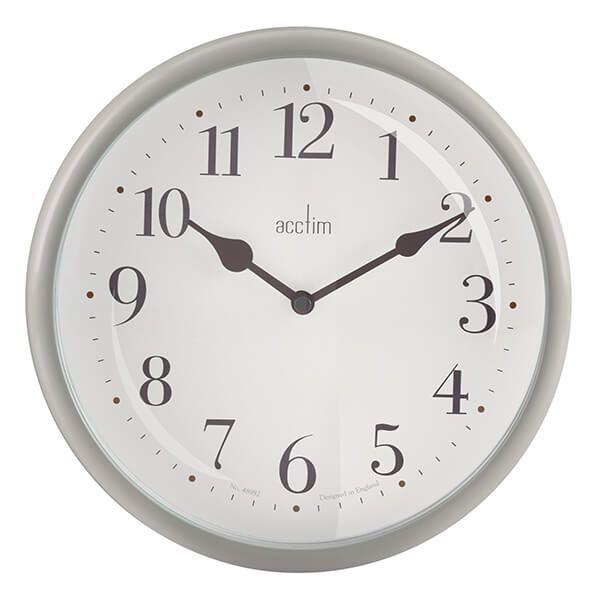 Acctim Aldbury Wall Clock Grey Owl