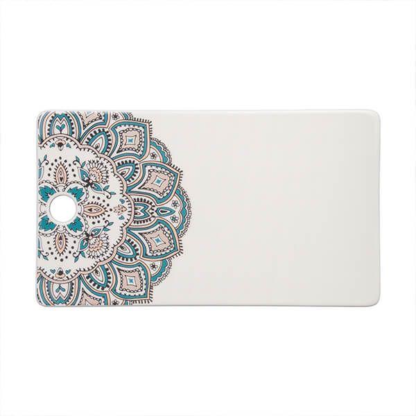 Denby Monsoon Mandala Ceramic Platter