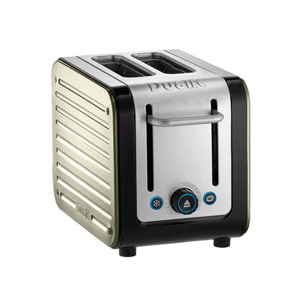 Dualit Architect 2 Slot Black Body With Canvas White Panel Toaster