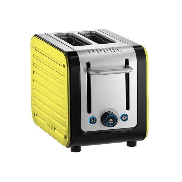 Dualit Architect 2 Slot Black Body With Citrus Yellow Panel Toaster