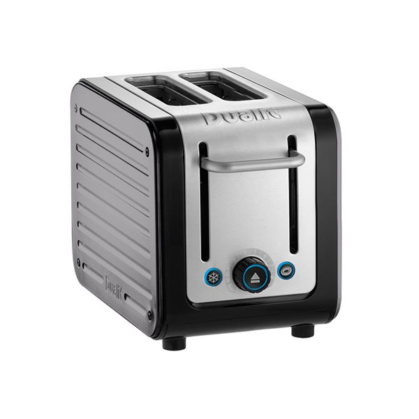 Dualit Architect 2 Slot Black Body With Metallic Silver Panel Toaster