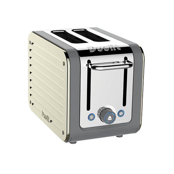 Dualit Architect 2 Slot Grey Body With Canvas White Panel Toaster