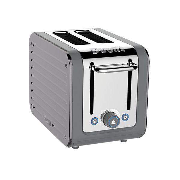 Dualit Architect 2 Slot Grey Body With Metallic Silver Panel Toaster