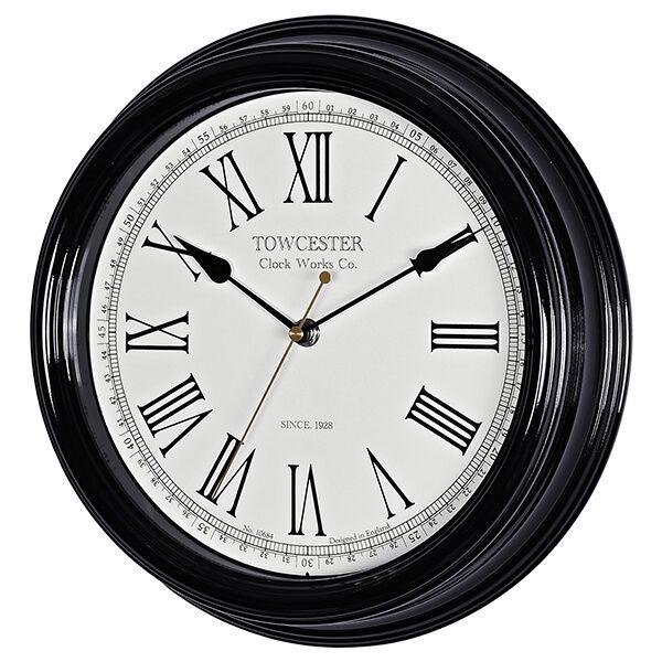 Acctim Redbourn Wall Clock Black