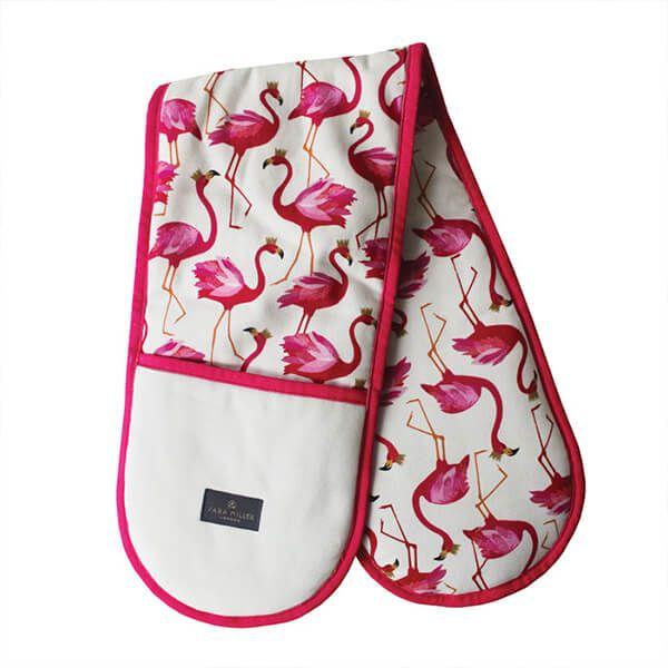 Sara Miller Flamingo Repeat Double Oven Glove