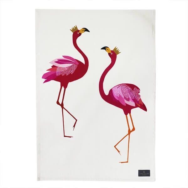 Sara Miller Flamingo Placement Tea Towel