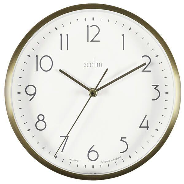 Acctim Ava Wall Clock Gold