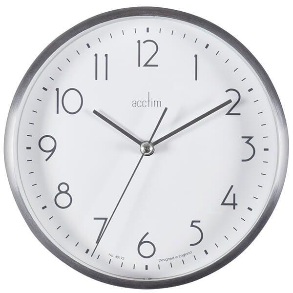 Acctim Ava Wall Clock Silver