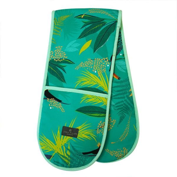 Sara Miller Toucan Placement Double Oven Glove