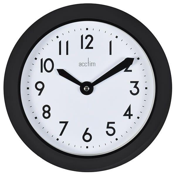 Acctim Wixham Wall Clock Black