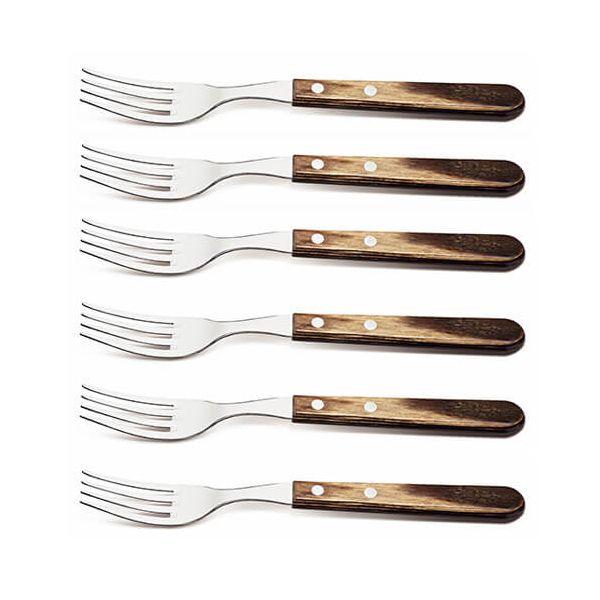 Tramontina Polywood Set of 6 Jumbo Forks