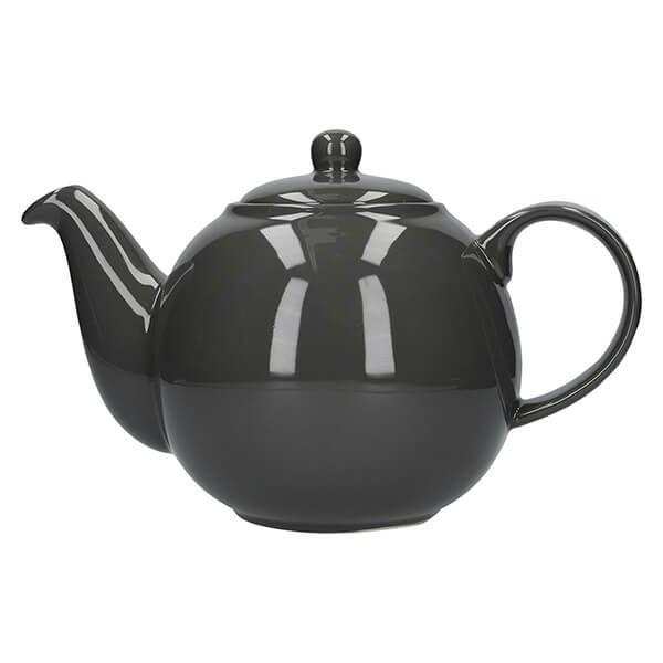 London Pottery Globe 6 Cup Teapot London Grey